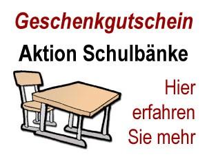 Gutschein - Aktion Schulbänke